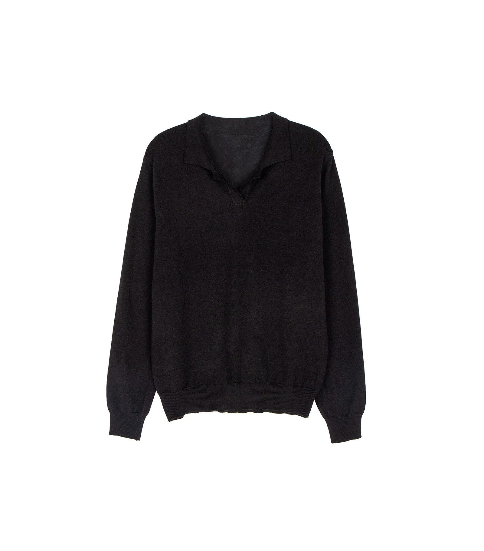 Mid Cashmere Collar Neck Knit