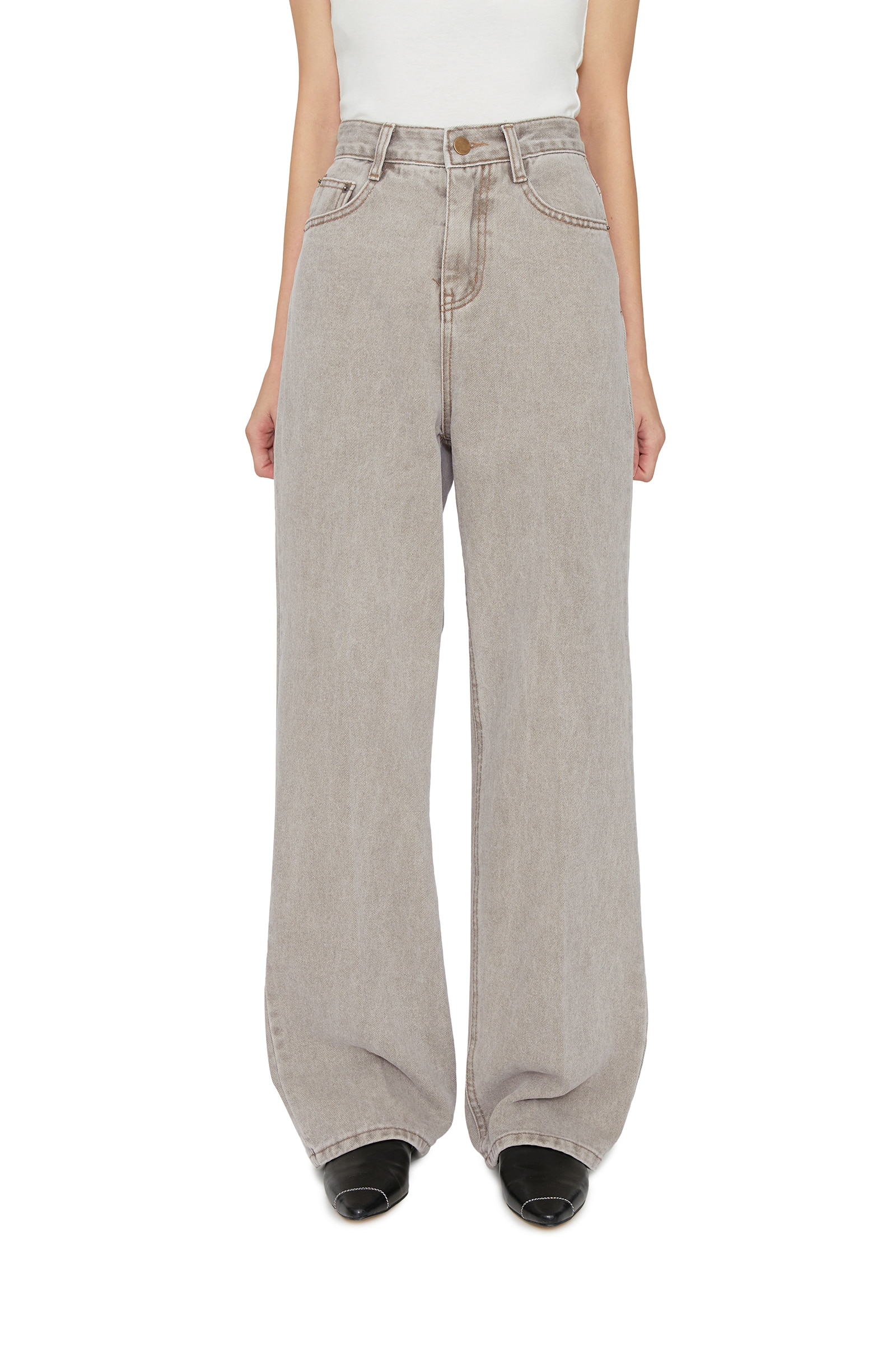 Smore gray straight jeans