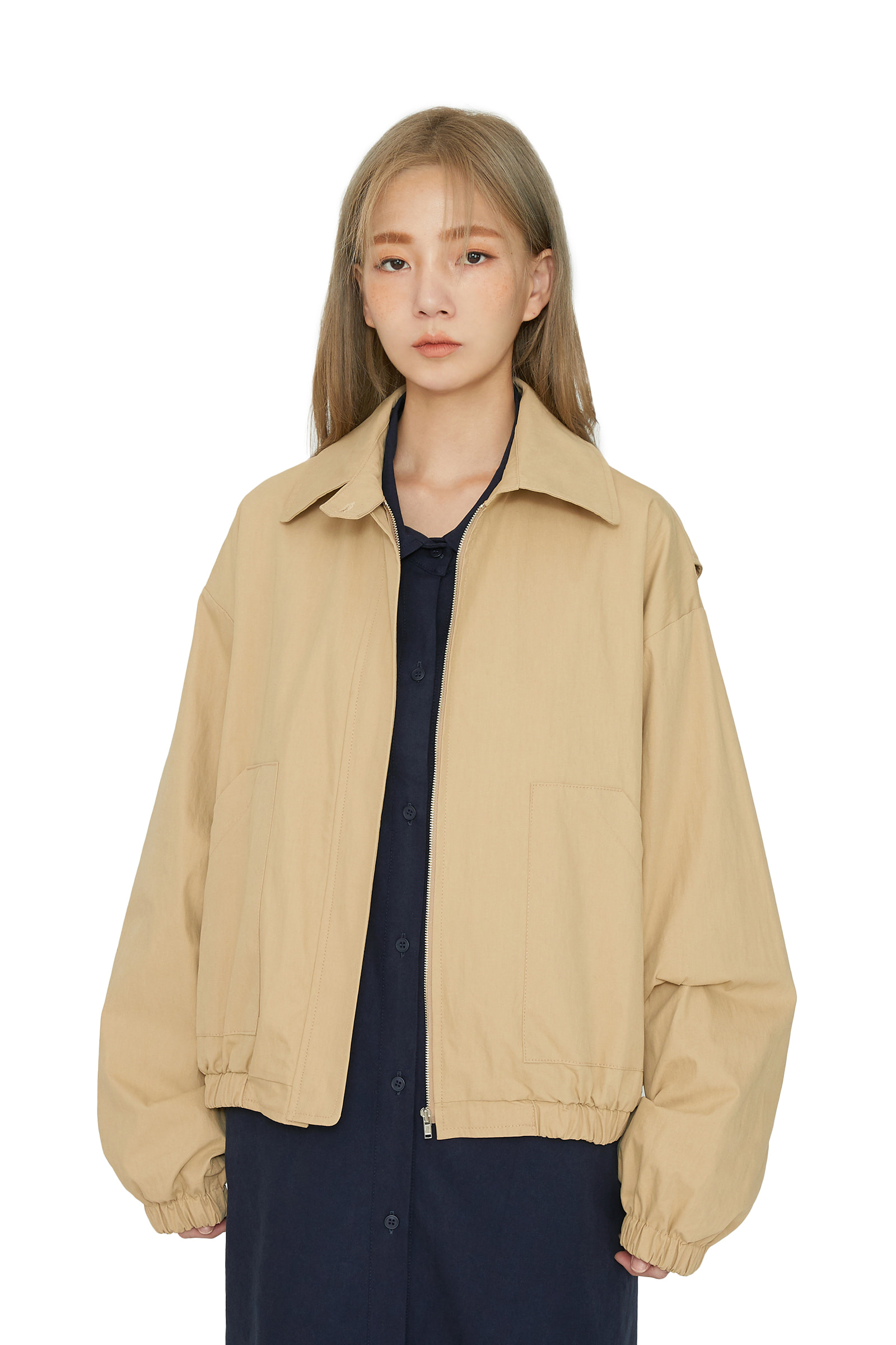 Track over casual jacket