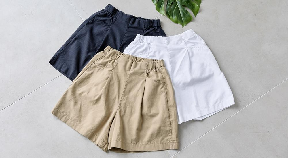 A-Line Fit Banding Cool Linen Pants #75358