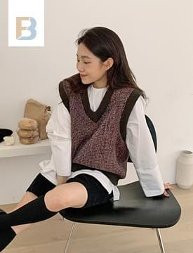 Vintage Tweed vest 開襟衫