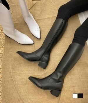 Warrior long heel side zip long boots