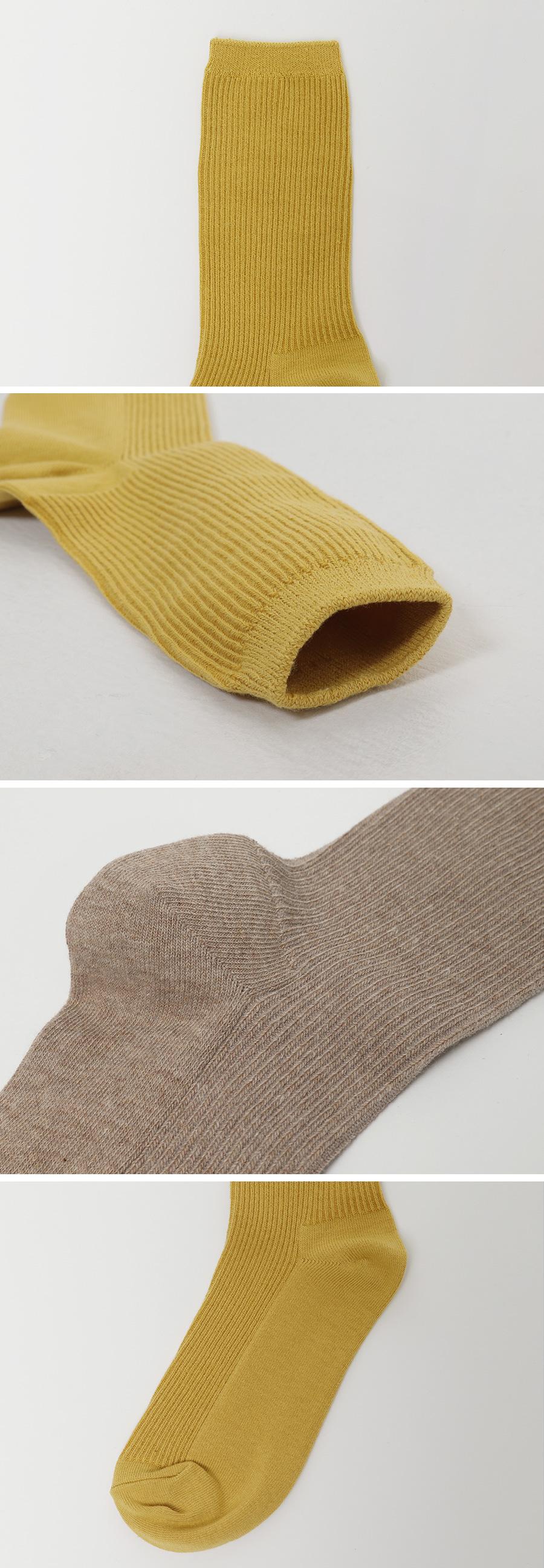 Mood color daily Ribbed socks