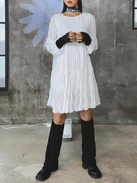 Wrinkle Lure Chiffon Dress 洋裝