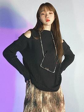 Shoulder Natin Split Knit knitwears