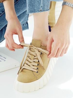 Caramel Leather Sneakers 4cm sneakers