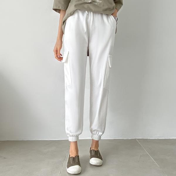 String pocket jogger pants #75680