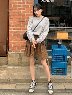 Leopard Camcan Mini Skirt 裙子