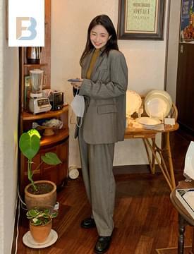Modern herringbone tailored jacket 夾克外套