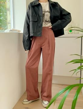Mono leather cropped jacket 夾克外套