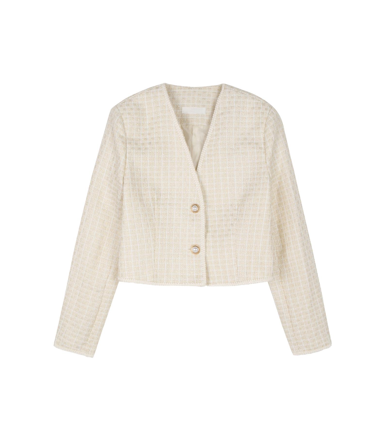 Maid cropped tweed jacket