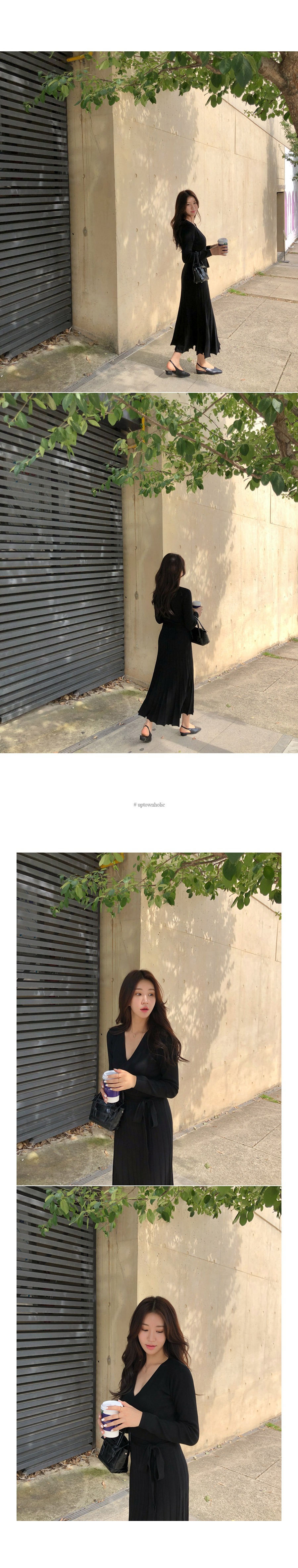 Pleated knit ops
