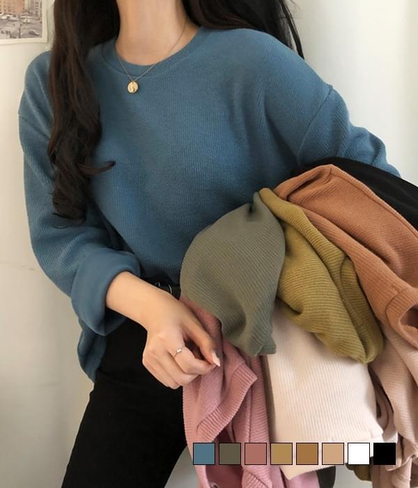 Delhi fine ribbed loose fit knit T-shirt 針織衫