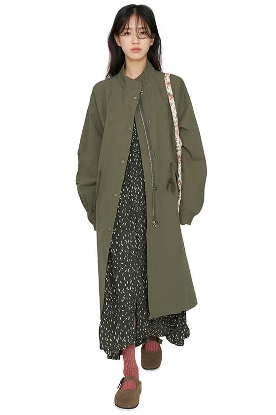 Compact over long parka coat