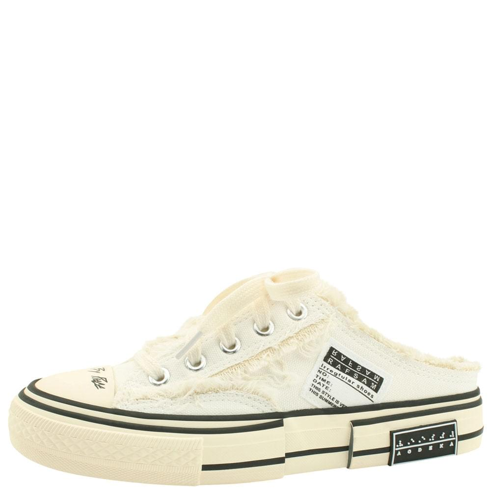 Vintage Sneakers Mule Blocker White