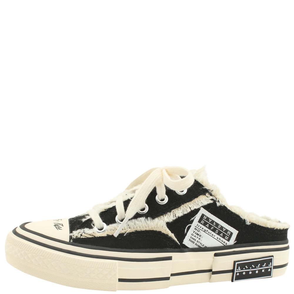 Vintage Sneakers Mule Blocker Black