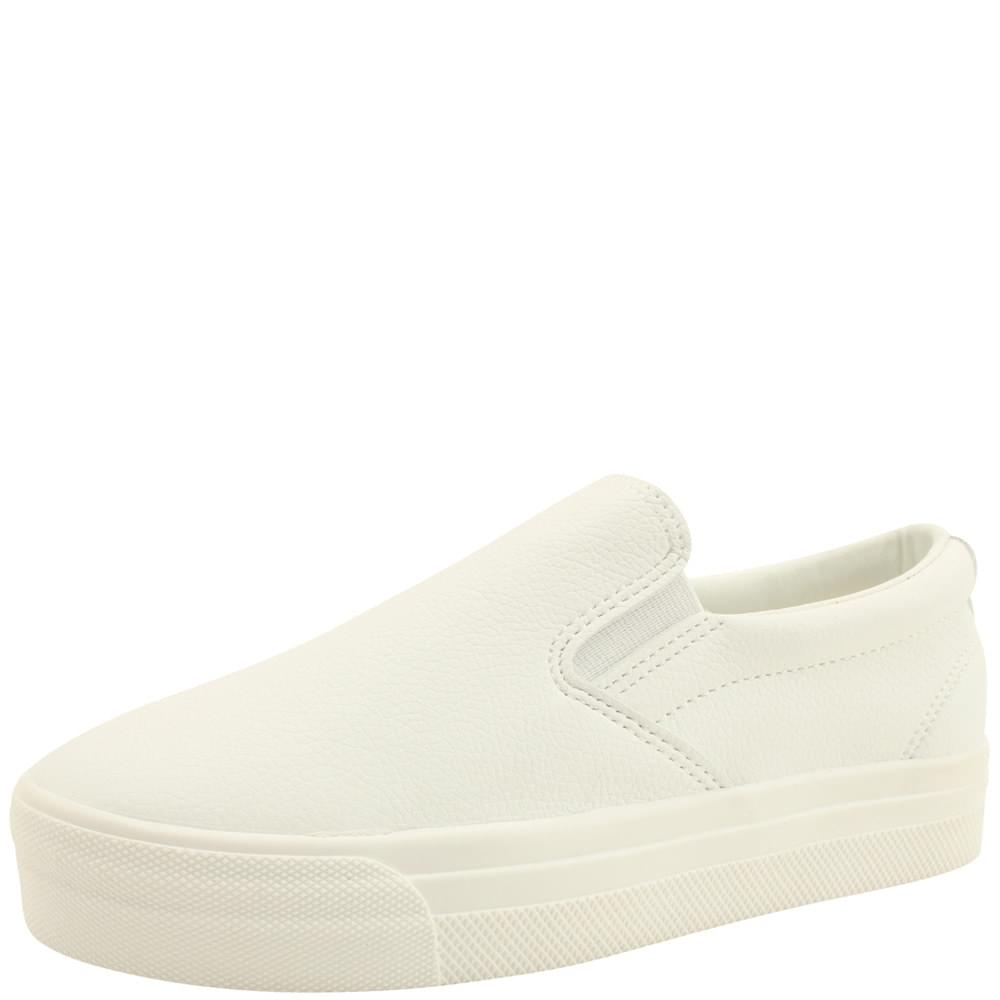 Cowhide Daily Slip-on Shoes White
