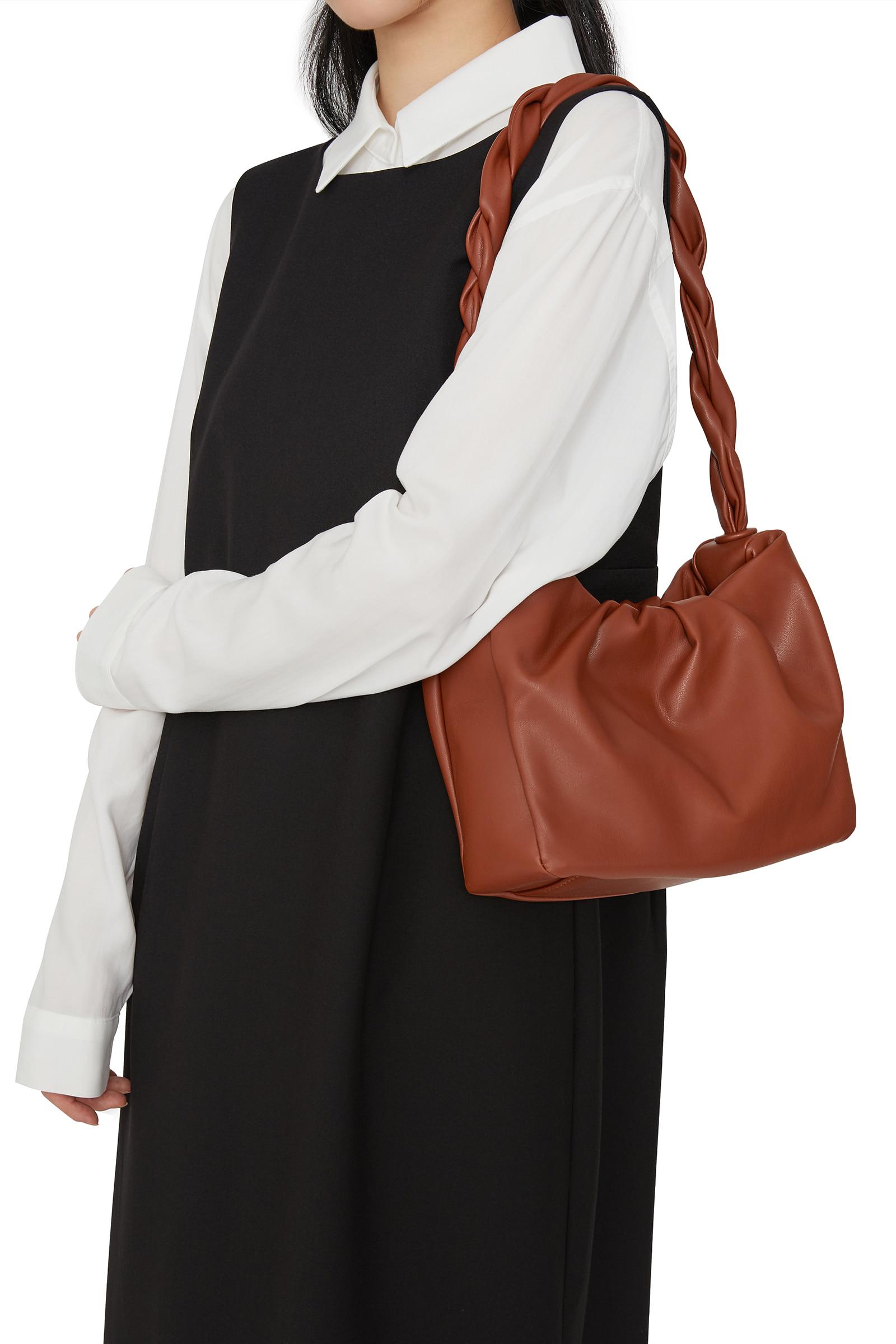 Wish twisted wrinkled shoulder bag