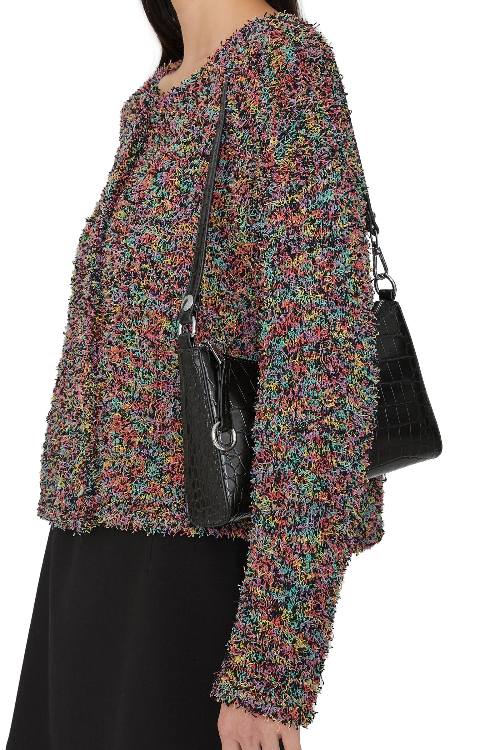 Berry animal pattern two-way shoulder bag