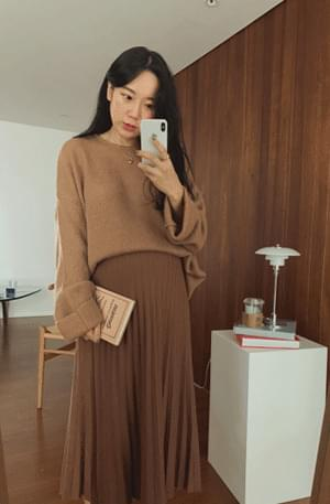 Mohair Loose Fit Roll Up Knit knitwears