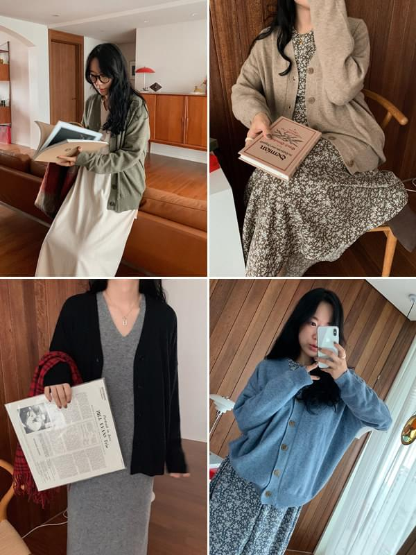 《Planned Product》 Light Cashmere Loose Fit Cardigan