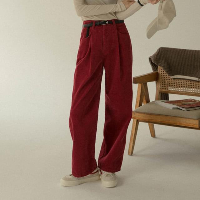 Village waistbanding corduroy pants