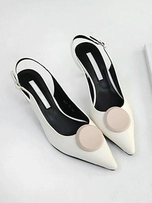 Rochiel slingback high heels 7cm heels