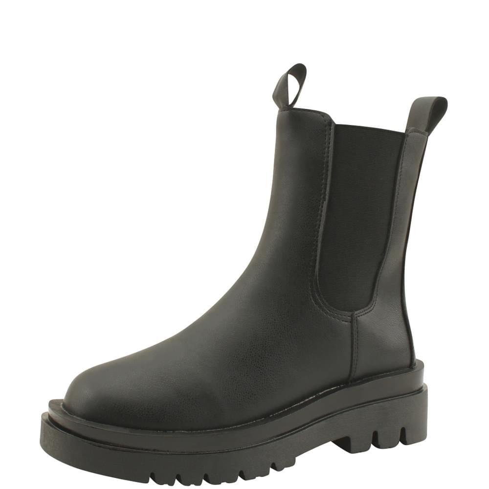 Chelsea Banding Flat Walker Ankle Boots 5cm
