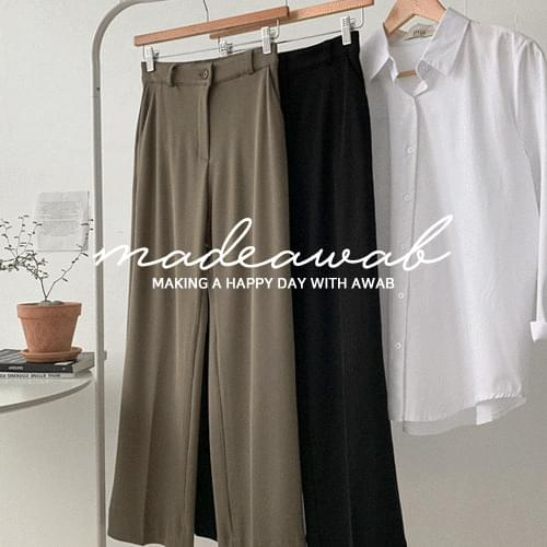 Golgi Knit Wide Long Slacks (ver. Secret Banding/Wide Long Fit) pants