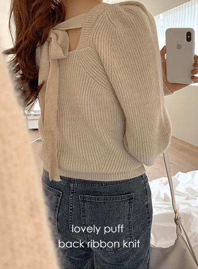 Lovely puff knit knitwears