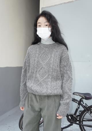 twist heavy warm knit