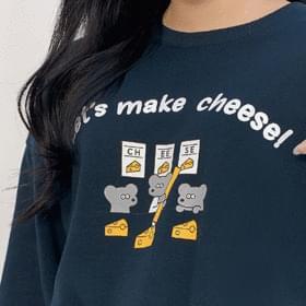 Make Cheese Man-to-Man Long Sleeve