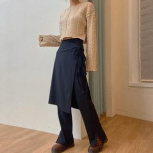 Mood wrap skirt pants