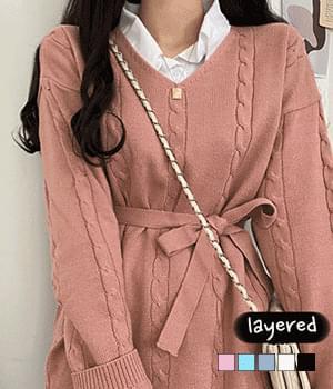 Another layered shirt dress