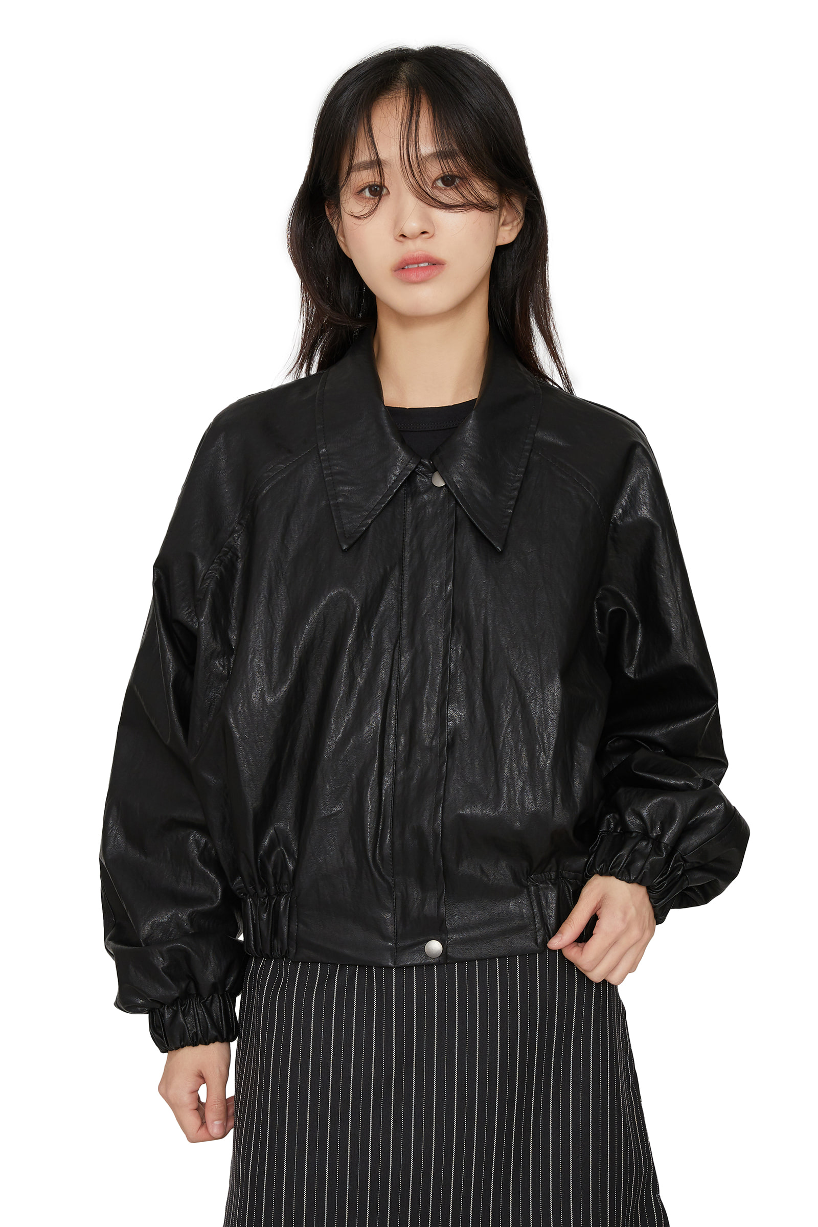 Step Shine Leather Jacket