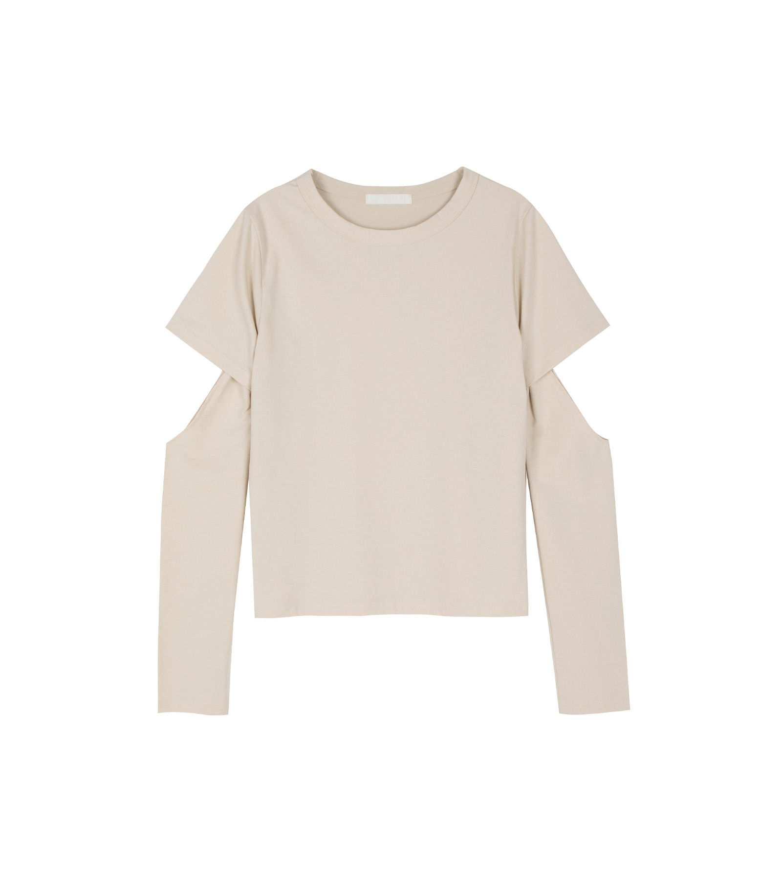Slit warmer long sleeve top