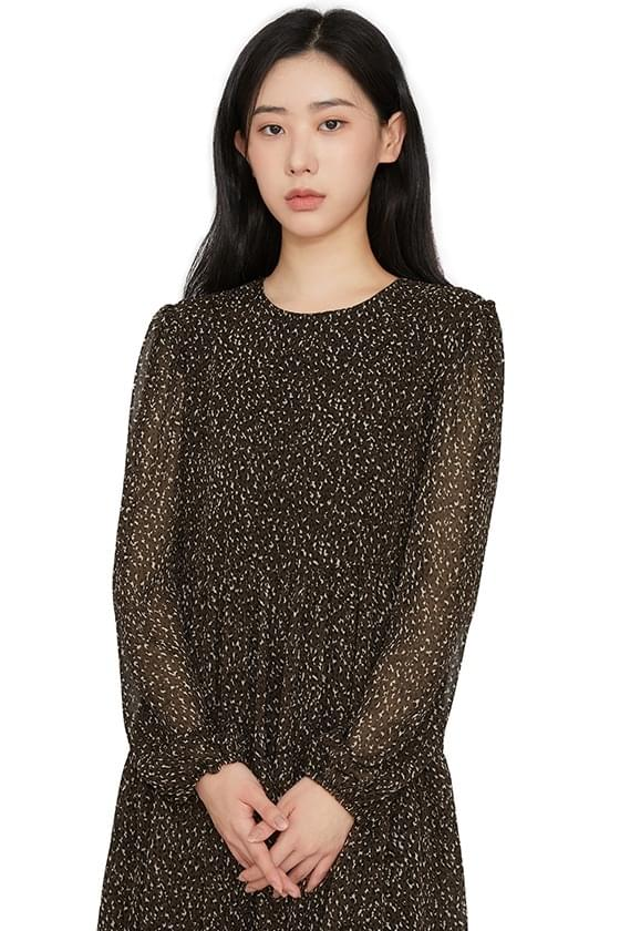 Kani leopard frill mini dress