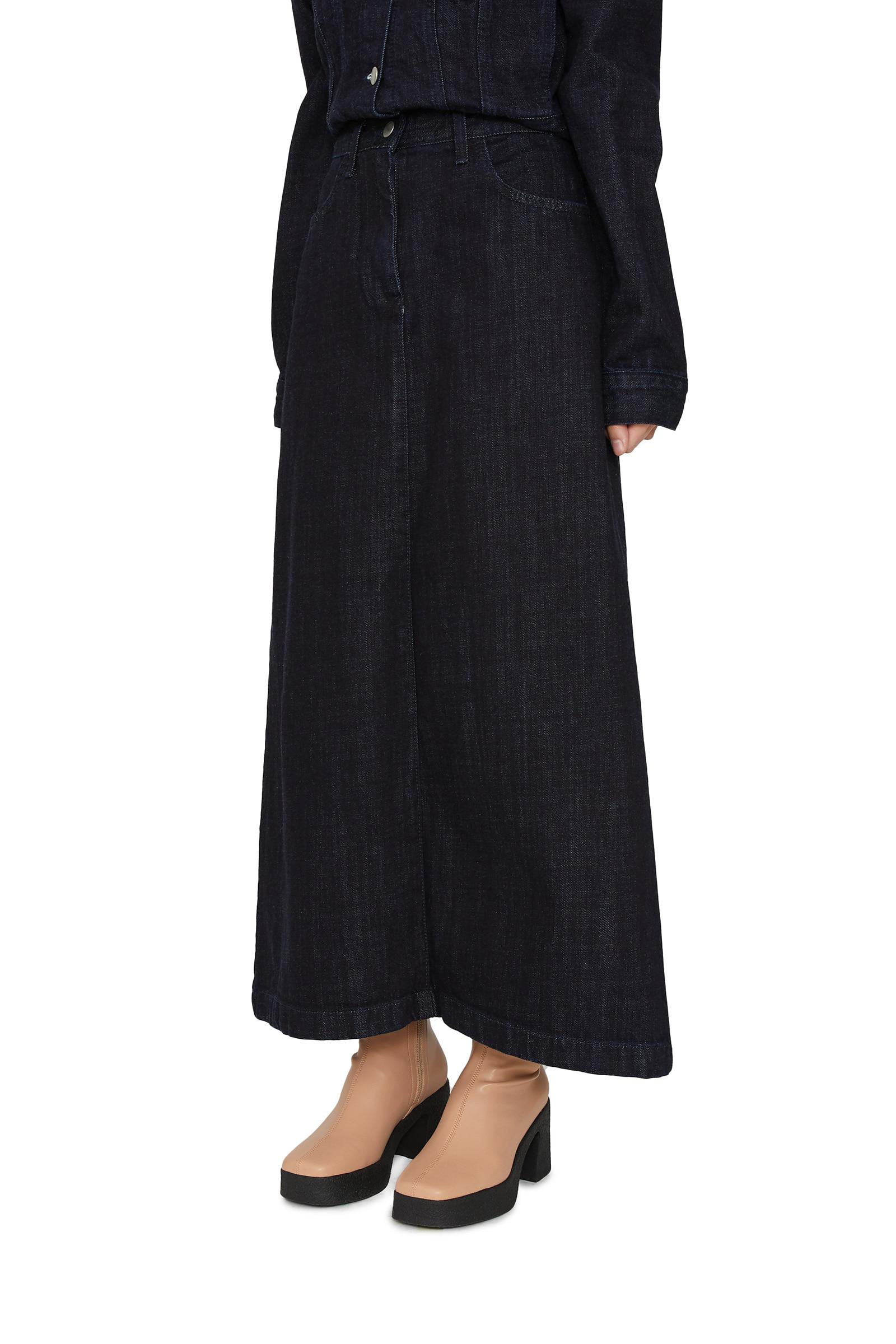 Deep Dough Denim Maxi Skirt
