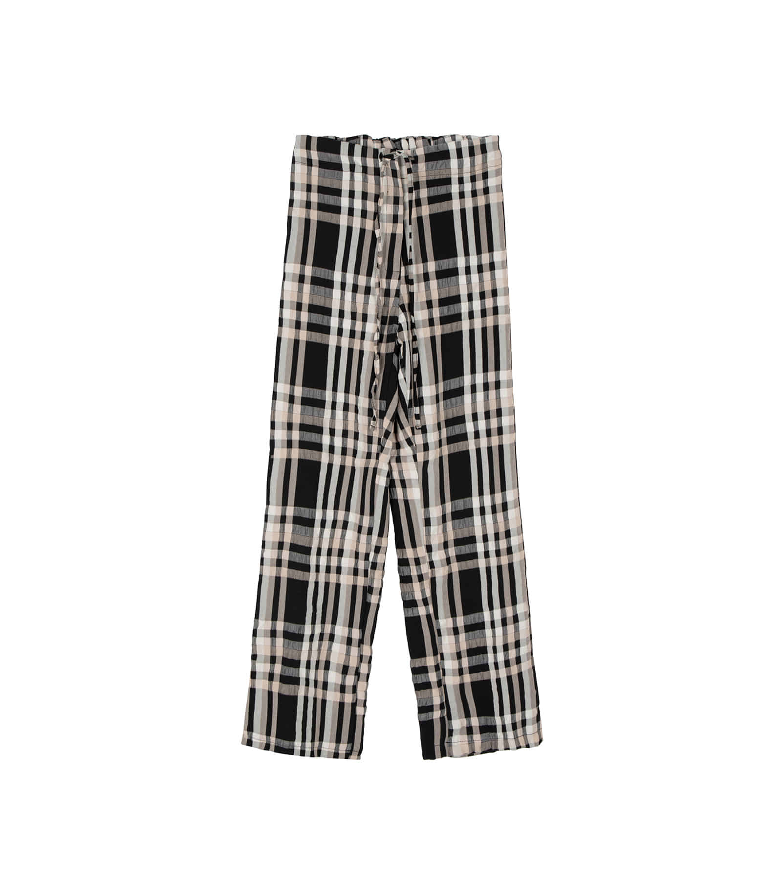 Pie check banding casual pants