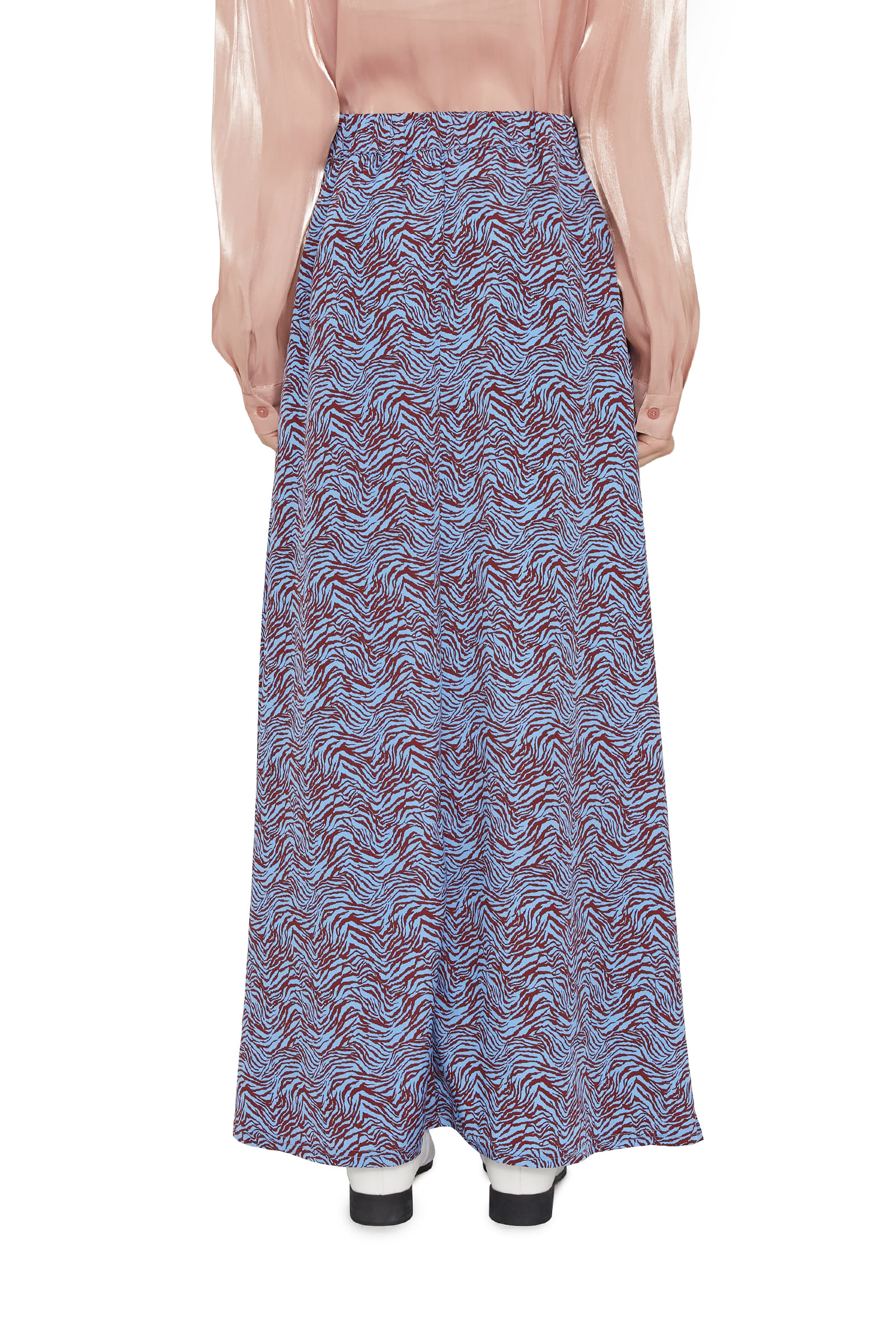 Zebra pattern maxi skirt