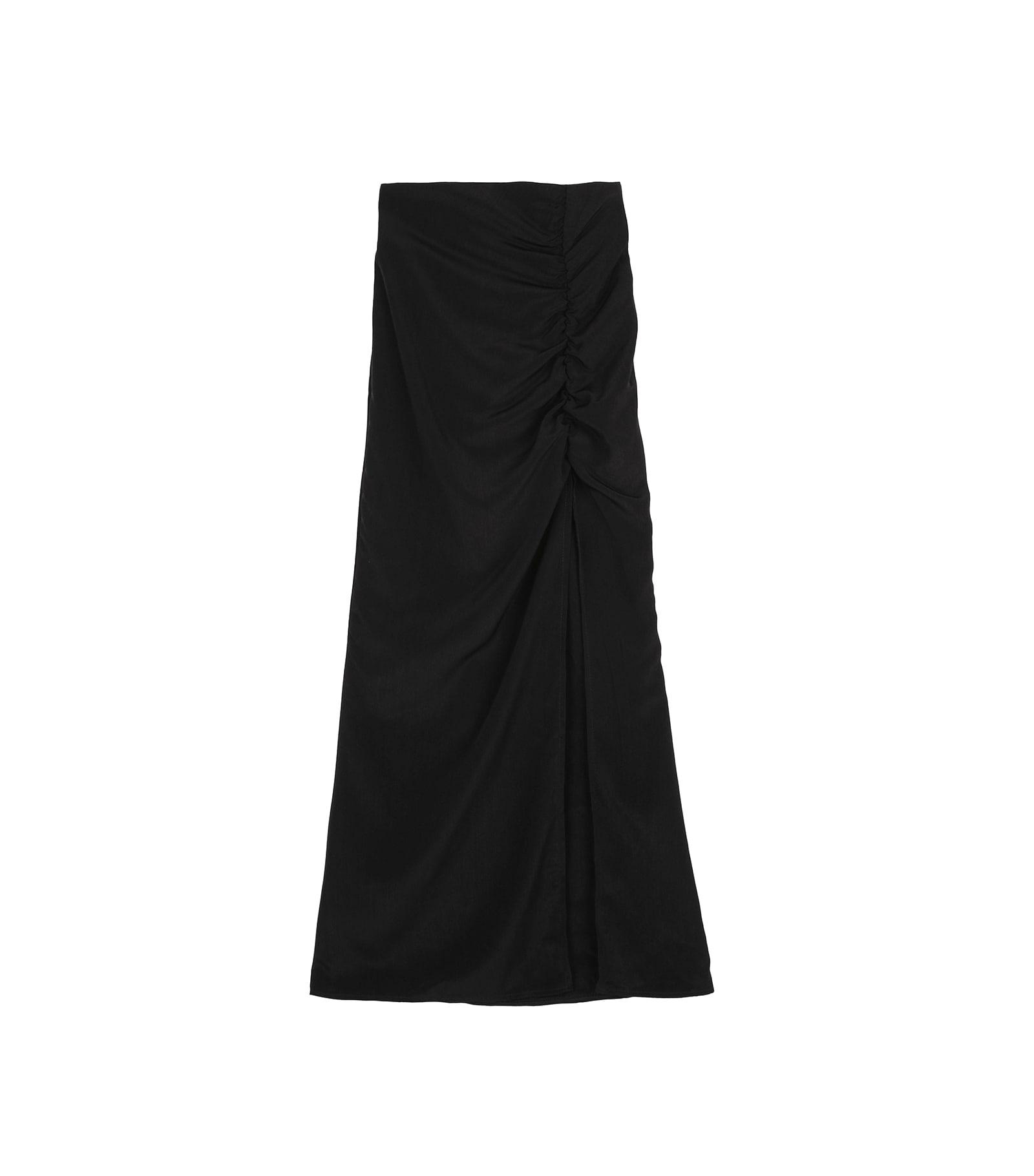 Diva shirred maxi skirt