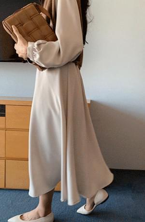 Laurel Pin Tuck Flare Dress