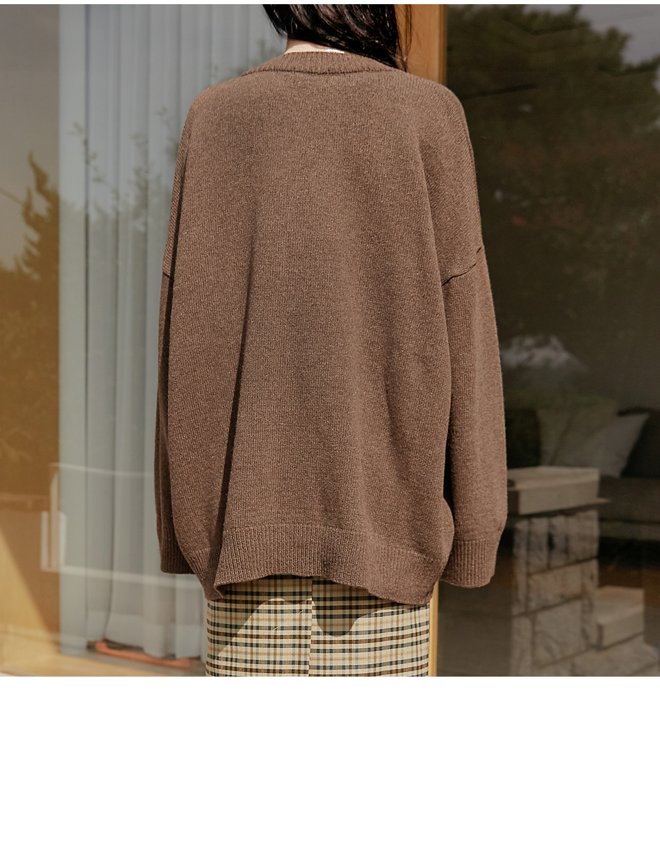 MOBA WOOL 50% BOXY KNIT CARDIGAN