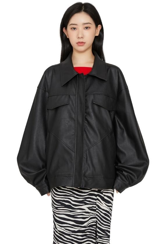 Hope Pocket Over Leather Jacket jacket