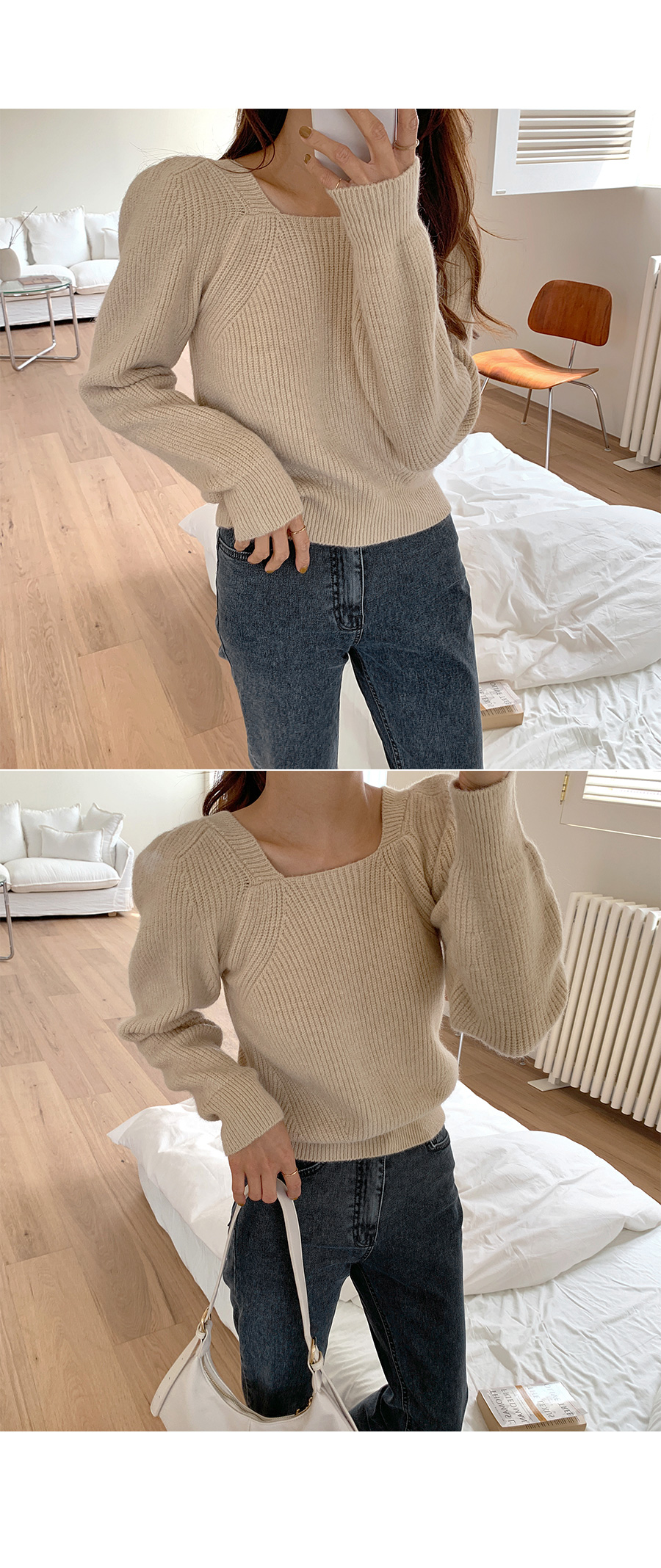 Lovely puff knit