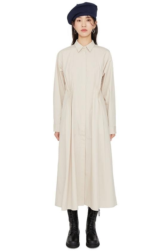 Lie pintuck maxi dress