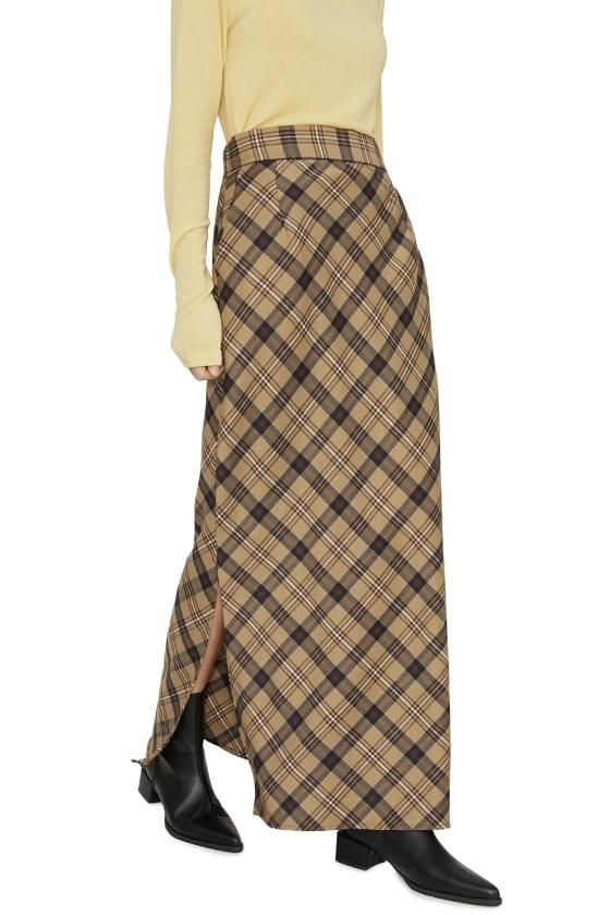 Jerin check maxi skirt