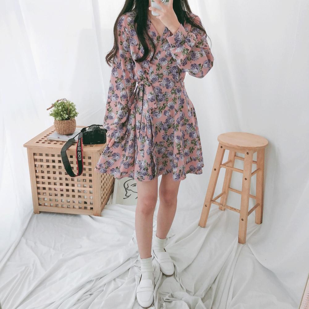 Viola wrap mini dress