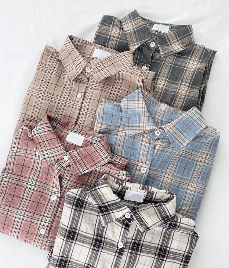 Solid check shirt