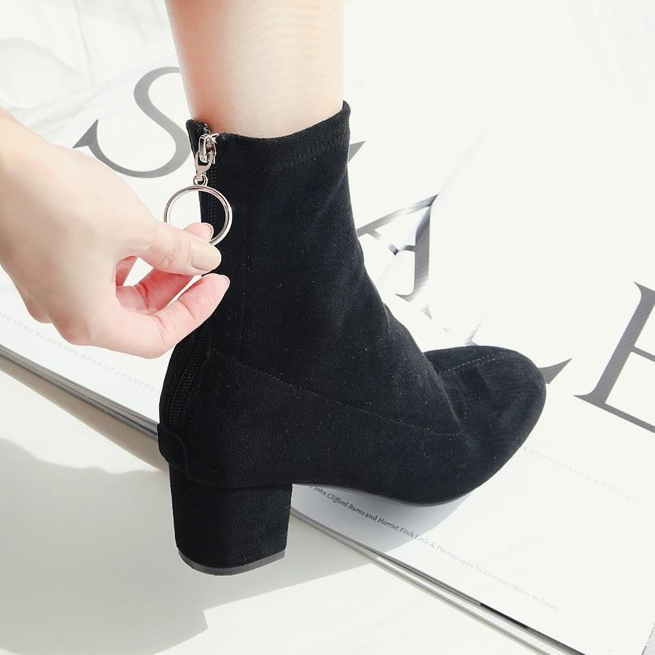 Back Goddess Socks Ankle Boots 5cm